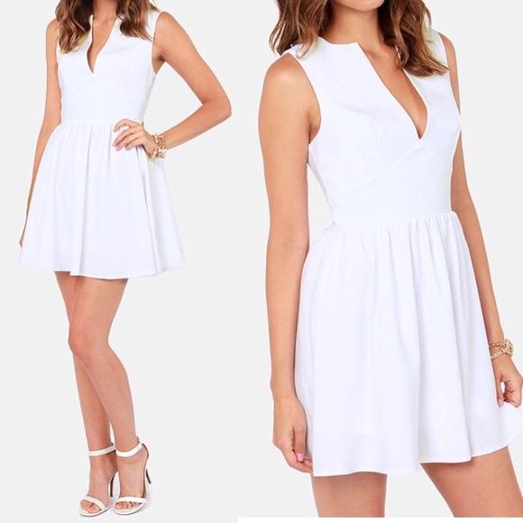 bece05b56524 Lulu s Dresses   Skirts - Lulus smile per hour white skater dress